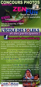 """Concours-photos-ZEN-et-FUN """"Ecole des soleils"""""""